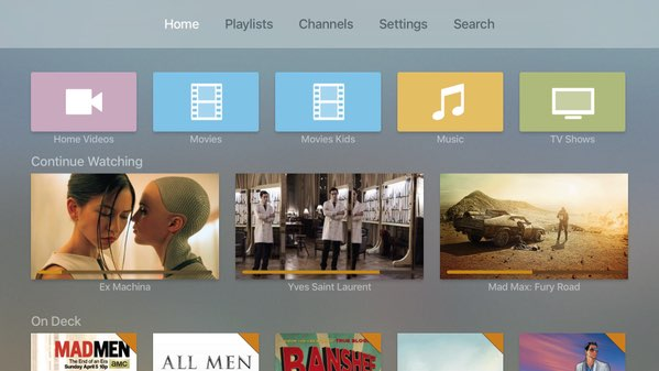 Plex-app op de Apple TV