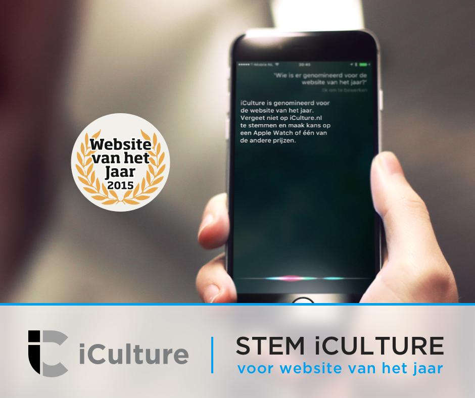 iCulture Website van het Jaar | Siri