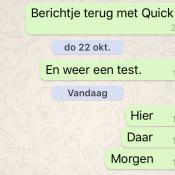 WhatsApp verwijdert ongewenste blauwe linkjes en laat nu iedereen snel antwoorden