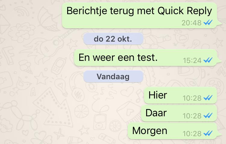 WhatsApp - geen blauwe linkjes meer