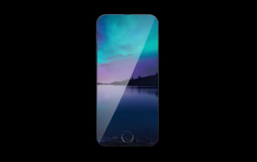 iPhone 7-concept zonder schermrand.