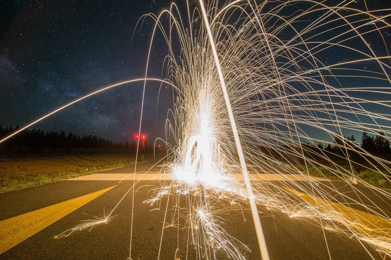 Vuurwerk op straat
