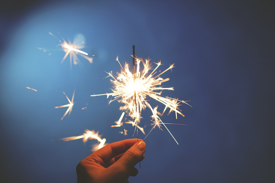 Vuurwerkfoto's maken: sterretjes