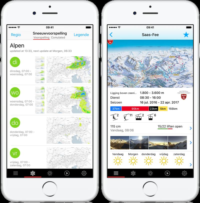 Bergfex/ski met kaart.