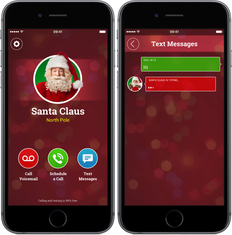 Call from Santa voor de iPhone.
