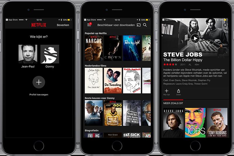 Netflix-app op de iPhone