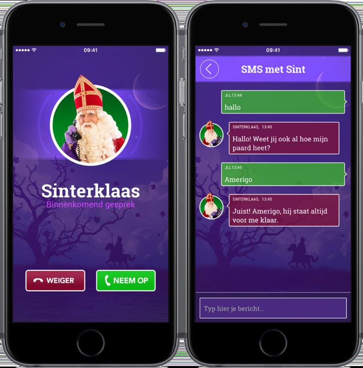 Bellen en sms'en met Sinterklaas.