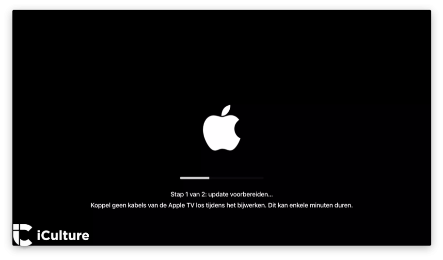 Apple TV-update voorbereiden.