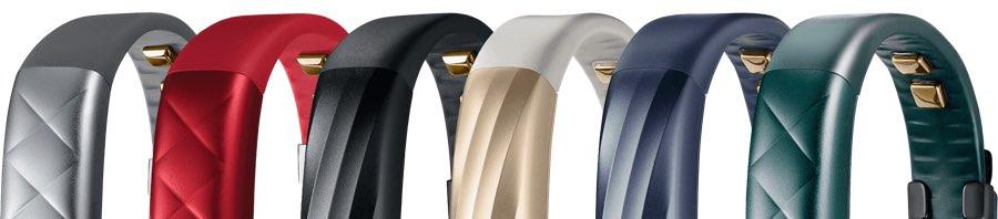 Jawbone UP3 varianten met verschillende armbanden