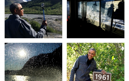 Obama in Alaska, geschoten met een iPhone.