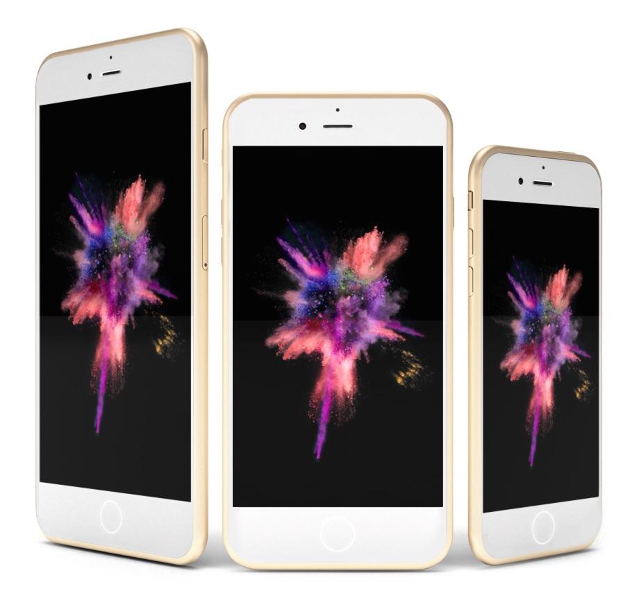 iPhone 7 concept met alle formaten.
