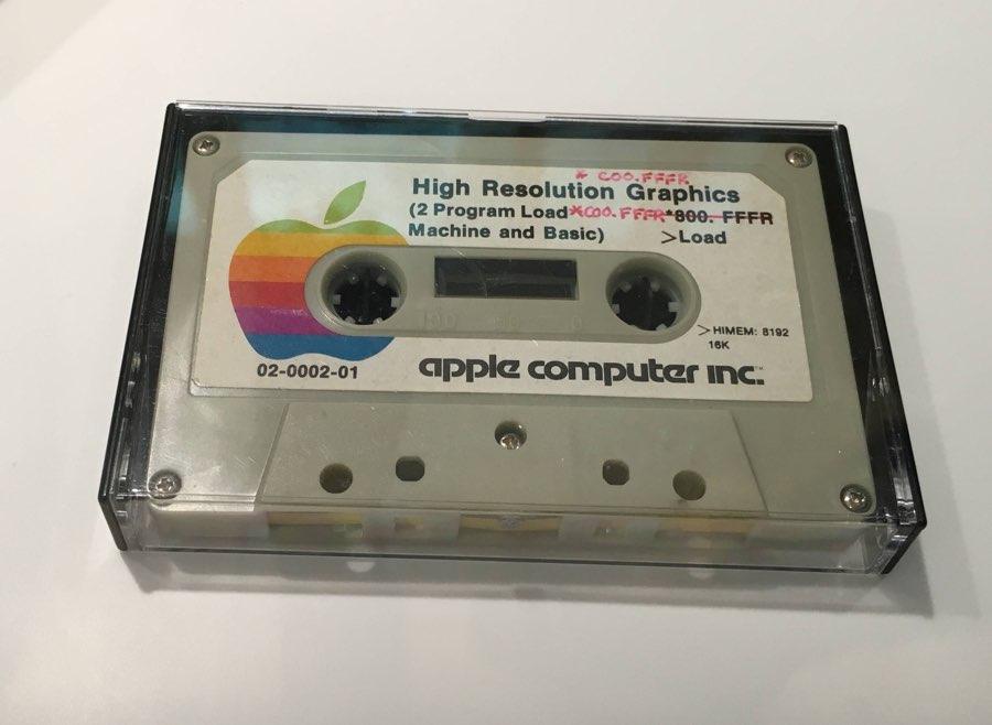 Apple Museum: weten wat dit cassettebandje is?