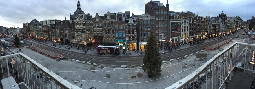 Panorama in Amsterdam.