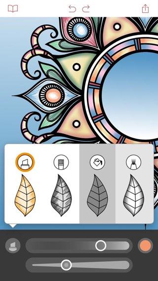 Pigment-app met tekentools