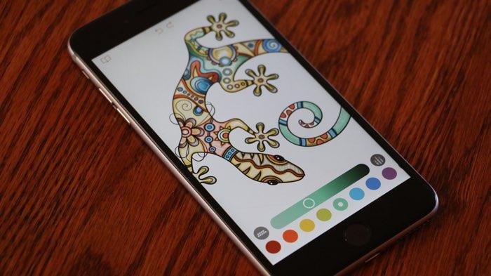 Pigment kleurboek op iPhone