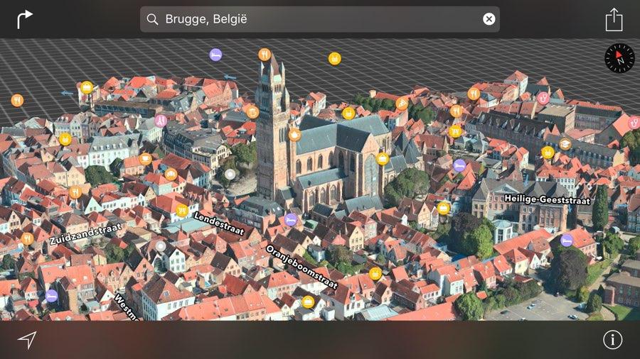 Brugge 3D kaarten