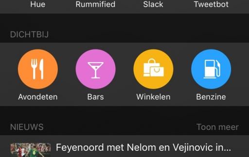 suggesties voor locaties in spotlight en Apple Kaarten