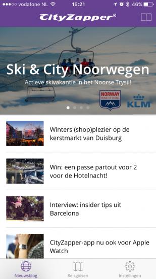 CityZapper heeft ook een nieuwsblog.