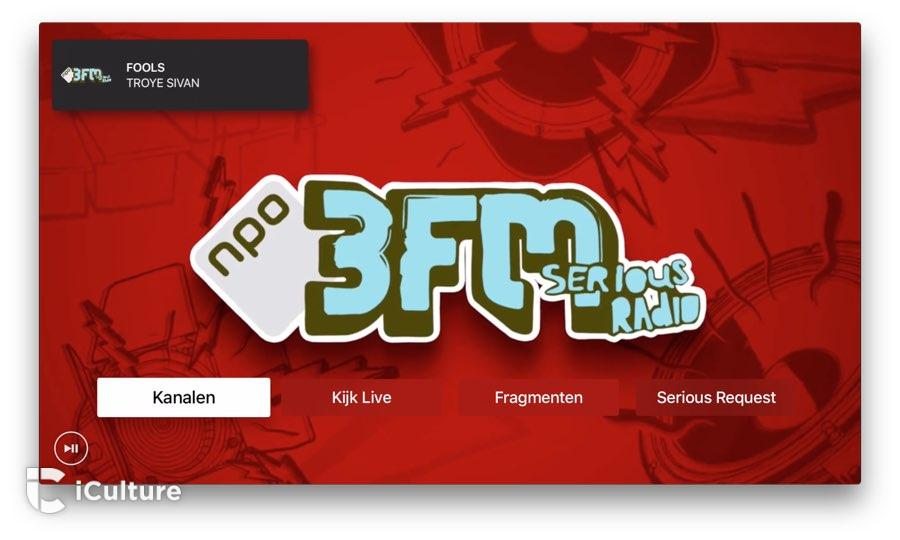 3FM op Apple TV openingsscherm