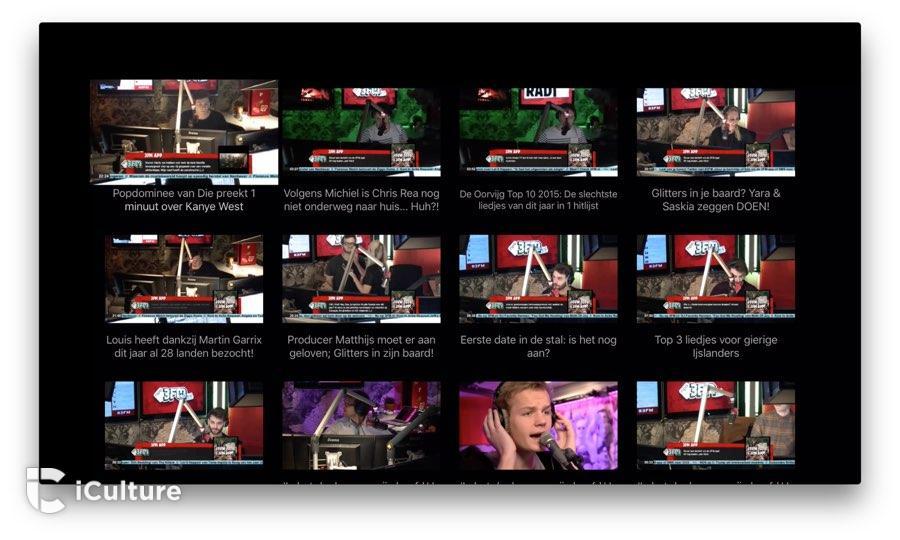 3FM op Apple TV: fragmenten bekijken