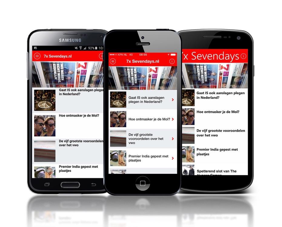 7Days app met nieuws voor jongeren.