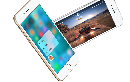 3D Touch op de iPhone 6s.
