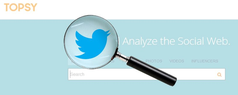 Topsy zoektool voor Twitter