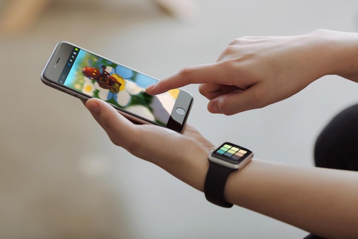 Procreate Pocket voor de Apple Watch.