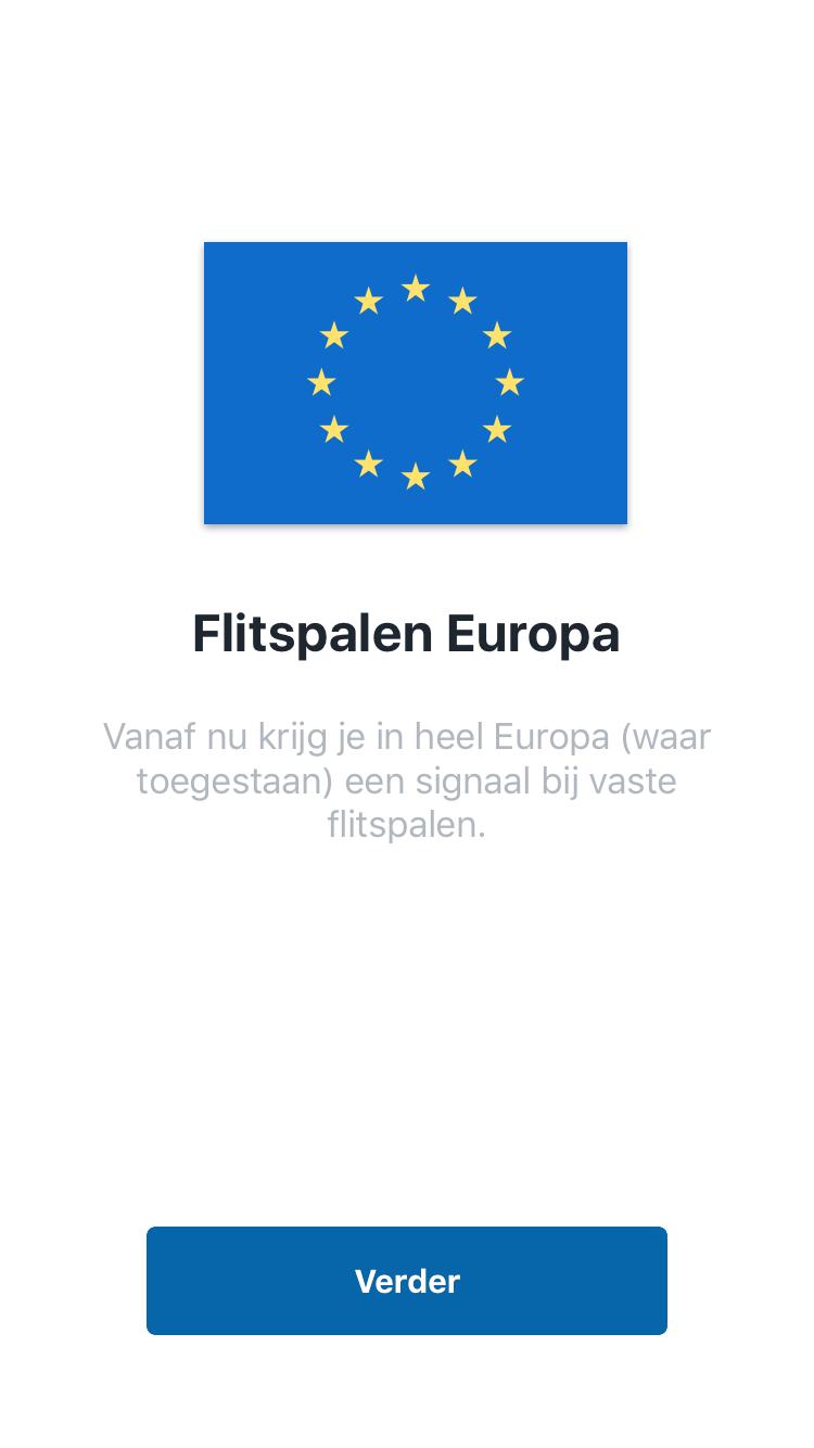 Flitsmeister flits nu voor vaste Europese flitspalen.