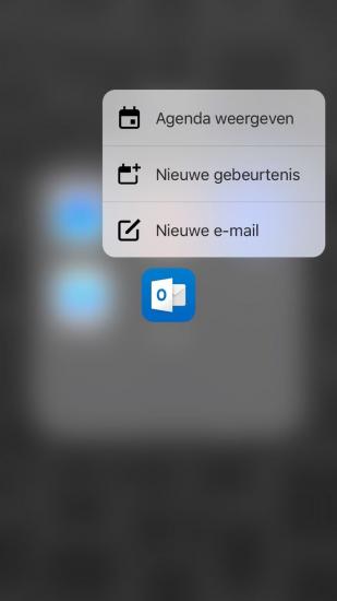 Microsoft Outlook heeft nu 3D Touch.