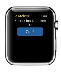 Kenteken Check op Apple Watch met kenteken inspreken.