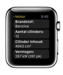 Kenteken Check op je Apple Watch met overzicht.