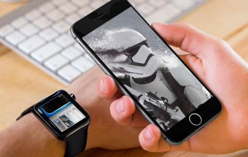 Star Wars op Apple Watch en iPhone