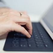 Smart Keyboard tijdens het typen