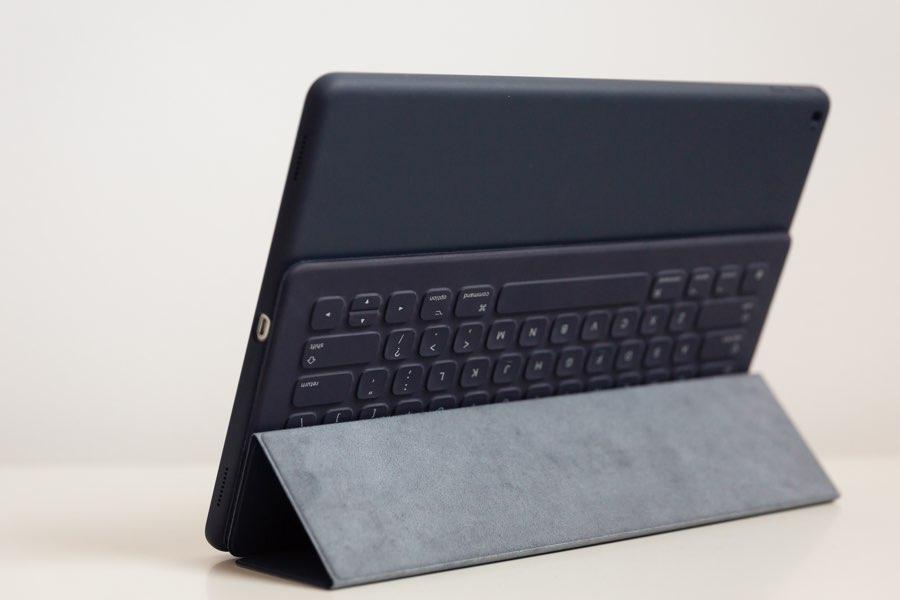 Smart Keyboard van de achterkant gezien.