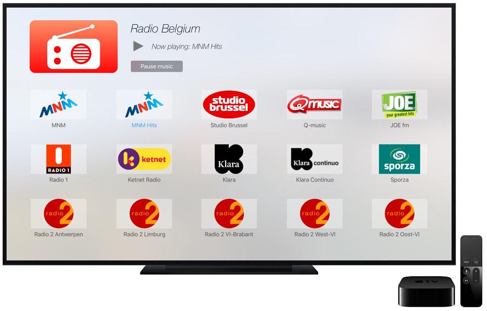 Radio Belgium voor de nieuwe Apple TV.
