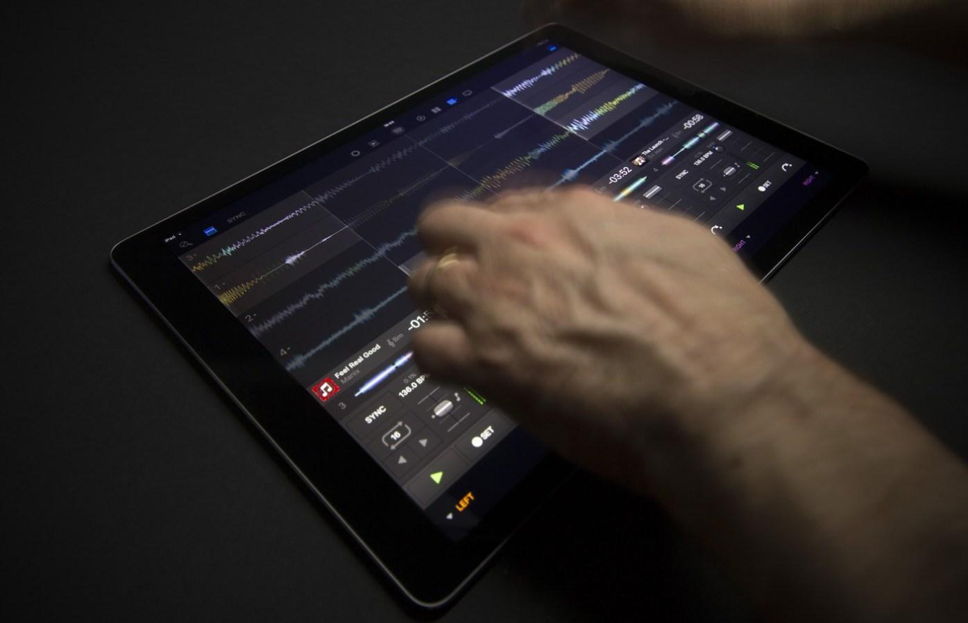 Djay Pro op iPad Pro