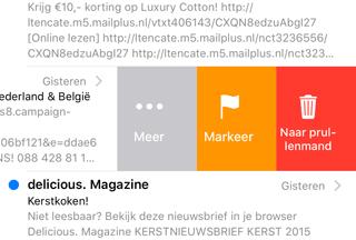 Apple Mail: vegen voor meer acties