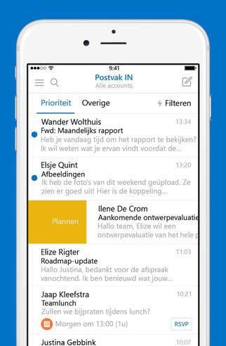 Outlook-app van Microsoft kan berichten plannen