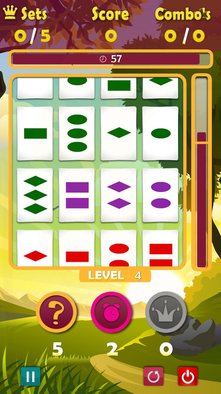 A Game of Threes met de arcade-mode.