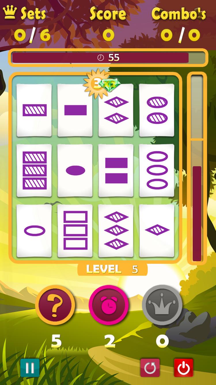 Speel kaarten weg in de klassieke mode van A Game of Threes.