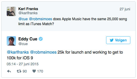 Eddy Cue's iTunes Match-belofte.