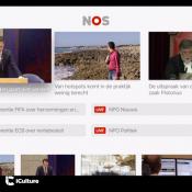 NOS-app op de Apple TV met video's.