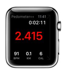Pedometer++ voor de Apple Watch.