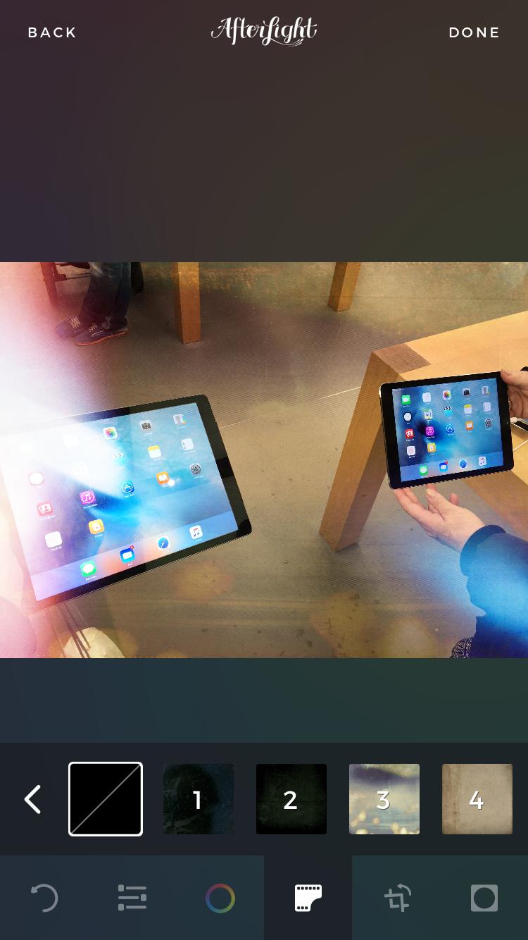 Afterlight met iPads.