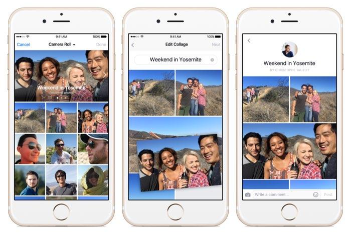 Facebook collages voor foto's