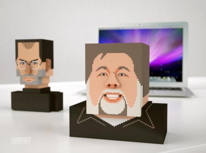 Steve Jobs en Steve Wozniak als 3D-print