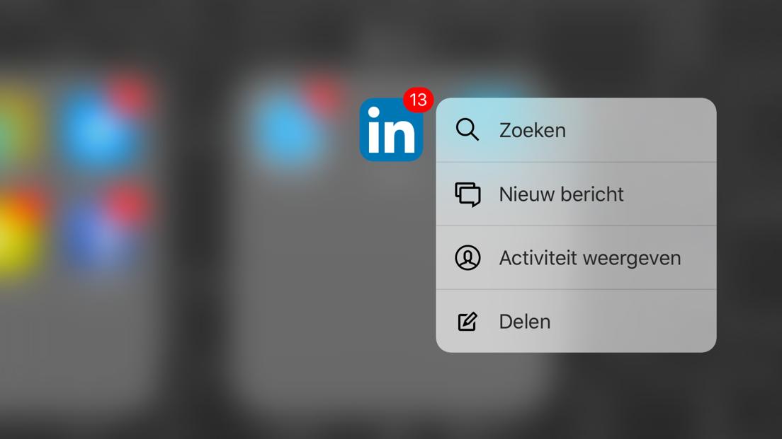 LinkedIn heeft nu ook 3D Touch.