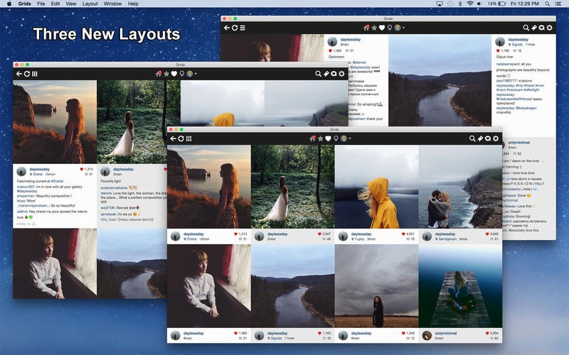 Grids for Instagram voor de Mac.
