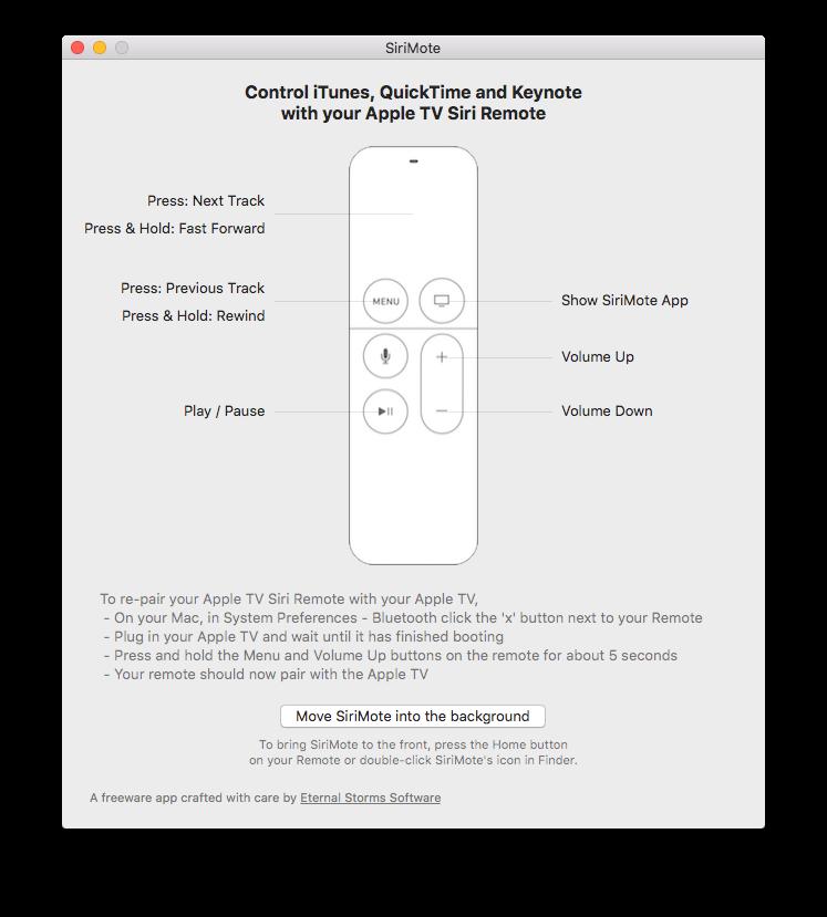 Met SiriMote bedien je je Mac met de Apple TV Remote.